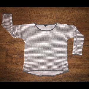 Express, Drop-Shoulder Sweater, 3/4 Length Sleeve